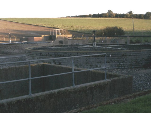Sewage treatment works near Elmdon