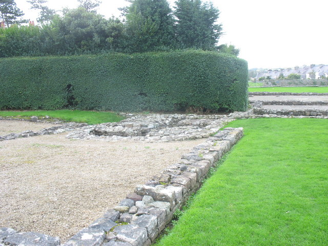 The remains of the baths at Segontium Roman Fort