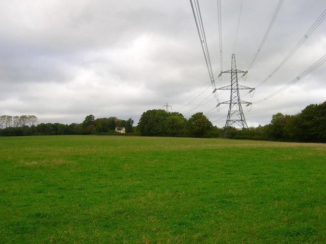 Electricity Pylons near Cinder Wood