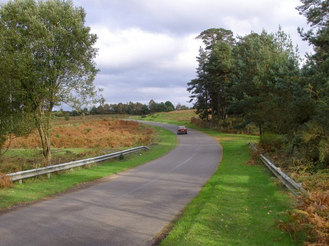 Road to Bolderwood from Slufters Inclosure, New Forest