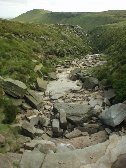 Crowden Brook at the edge of Kinder plateau