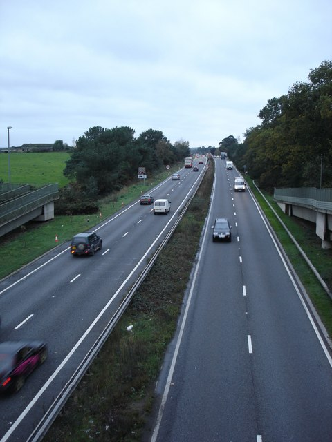 A31 from footbridge