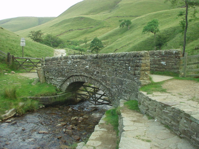 Packhorse bridge below Jacob's Ladder