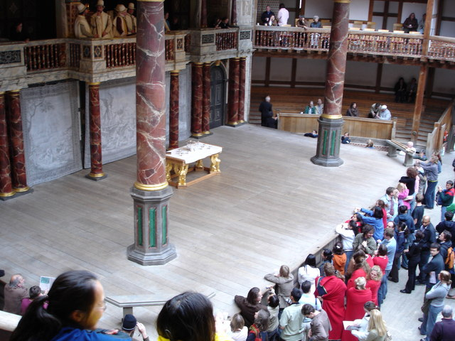 The stage of Shakespeare's Globe Theatre, Southwark