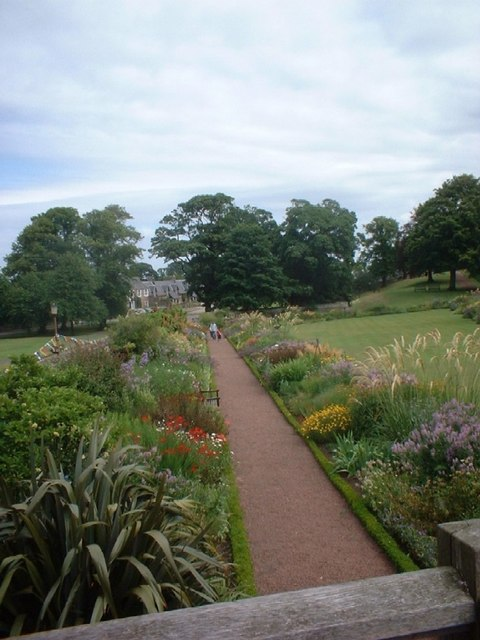 Gardens at Dirleton Castle