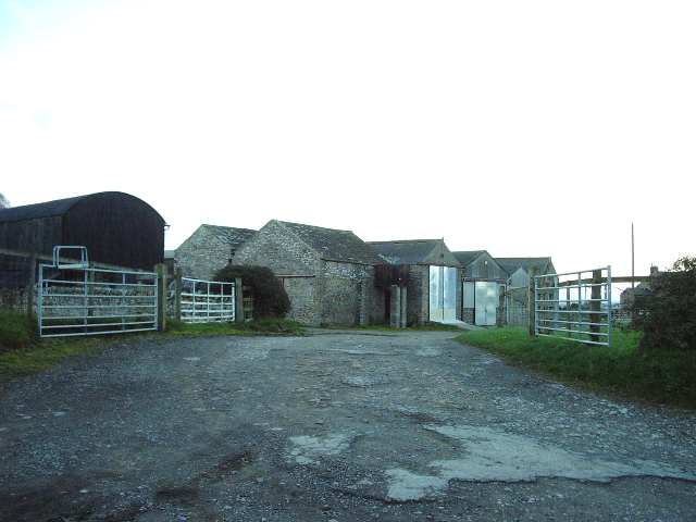 Entrance to farmyard and buildings at Brignall Farm