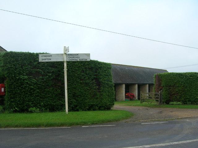 Sign outside Sarsden Lodge