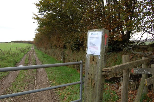 """Bridleway""  to Larcome Foot"