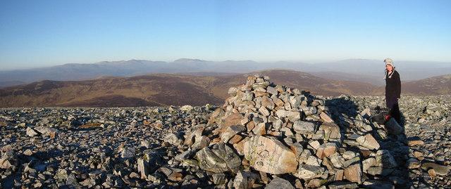 Summit of Beinn Iutharn Mhor
