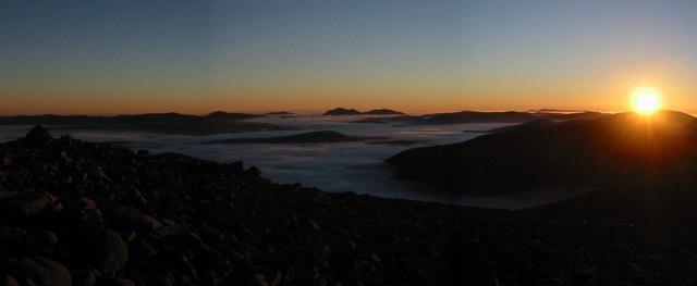 Sunset from Derry Cairngorm
