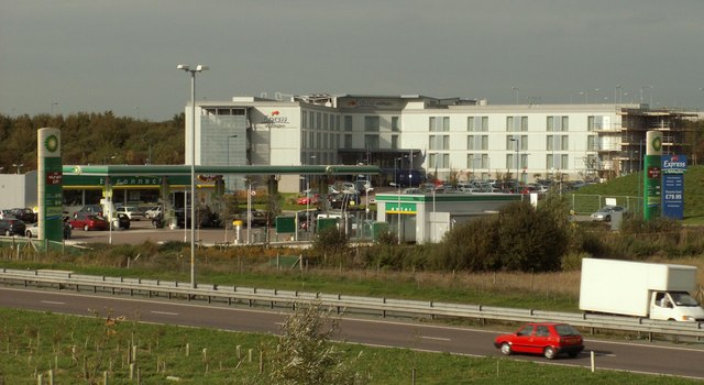 Express Holiday Inn and Petrol garage near Stansted Airport
