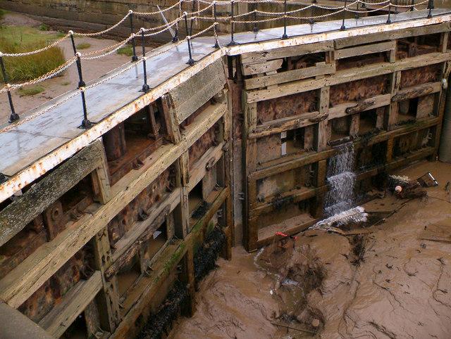 The Old Fish Dock Lock Gates