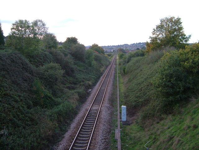 Railway cutting through Whipton
