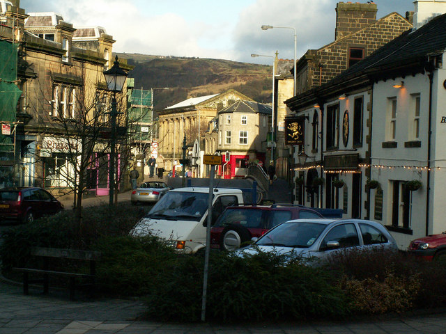 Fielden Square and the Golden Lion, Todmorden