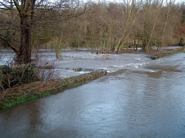 River Petteril Flooded Jan 2005