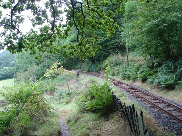 Path beside the Talyllyn Railway