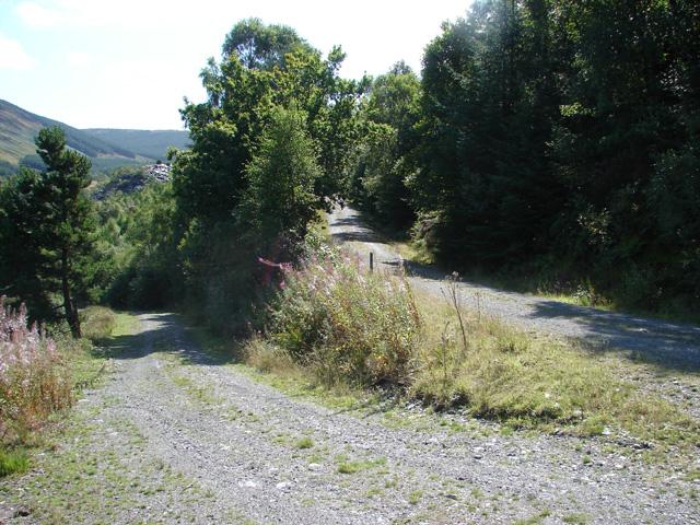 Track junction near Bryn-Eglwys Quarry