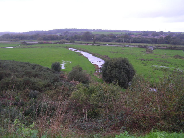 The River Piddle & flood plain, West of Wareham