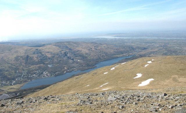 Summit Plateau of Elidir Fach from the Summit Ridge of Elidir Fawr