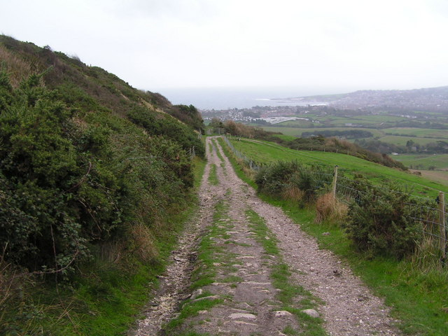 The Purbeck Way descending from Godlingston Hill