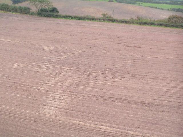 Ploughed field, east of Corfe Castle