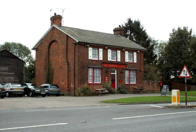 'The Fighting Cocks' inn