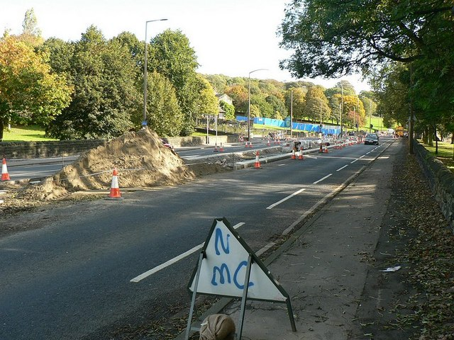 Roadworks, Abbey Road, Kirkstall