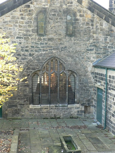 Ancient gatehouse of Kirkstall Abbey