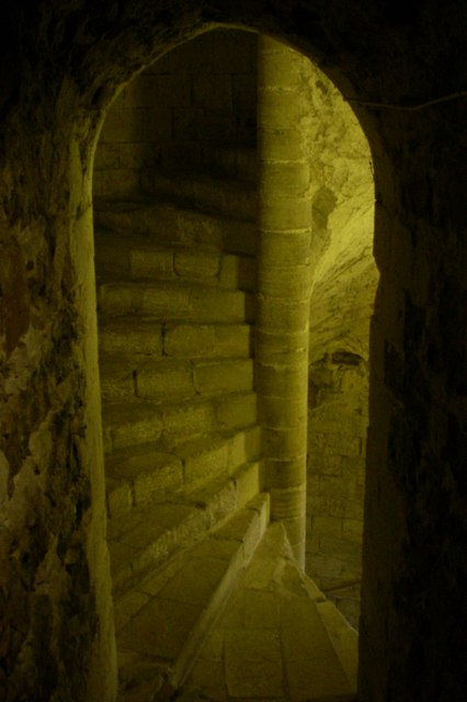 Main staircase - Orford Castle