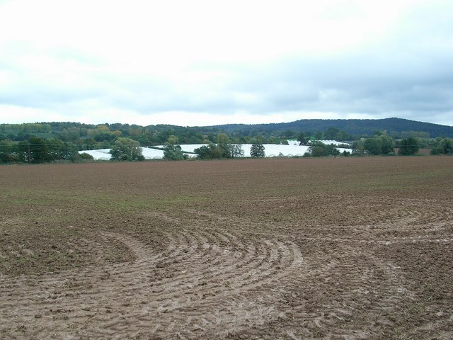 Soggy, ploughed field