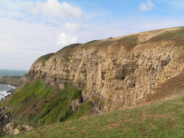 Cliffs east of St. Aldhelm's Head