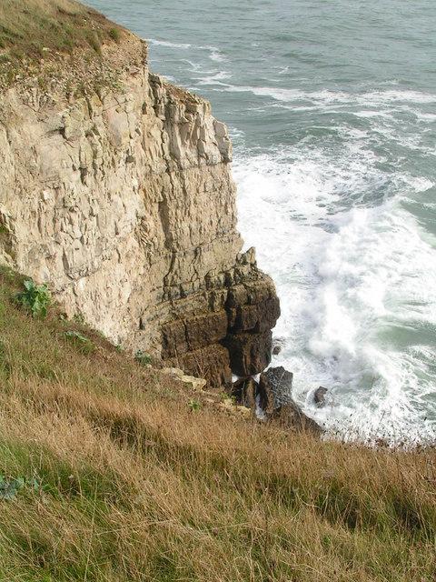 Portland limestone cliffs, West Man