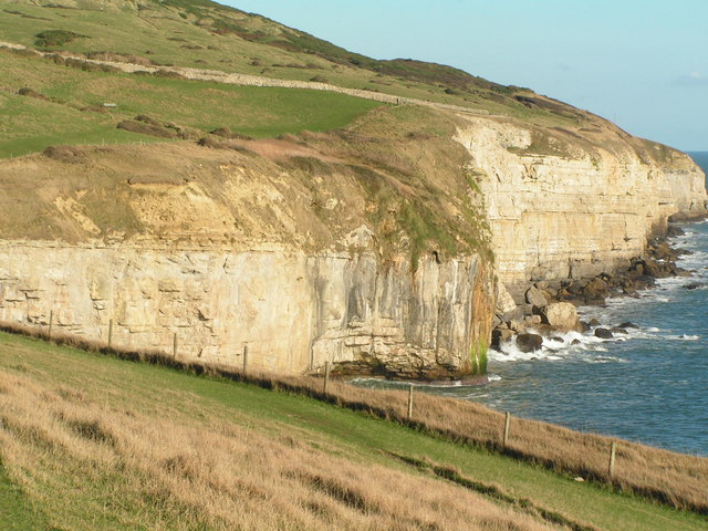 Portland cliffs east of Dancing Ledge