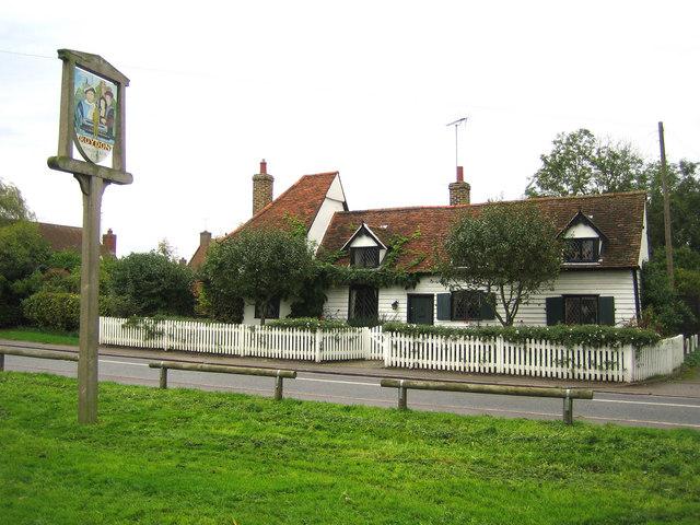 Roydon: The Church House & the village sign