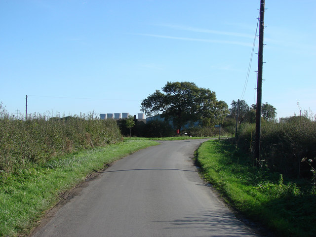 Middle Lane, Near Holme, with Heywood Road joining it from the left.
