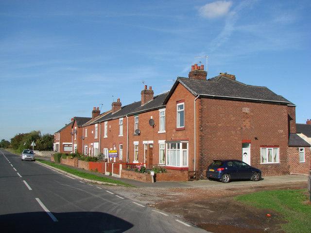 Last houses leaving Toll Bar on Adwick Lane, towards Adwick le Street.