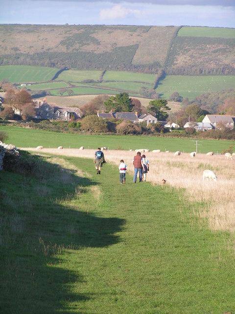Footpath leading north to Langton Matravers
