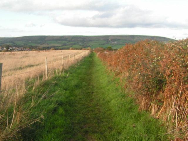 Footpath heading North to Langton Matravers
