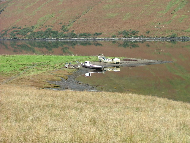 Boats at the head of Loch Harport