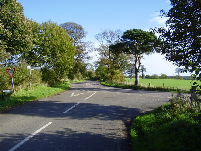 Junction near Longhirst and Ulgham