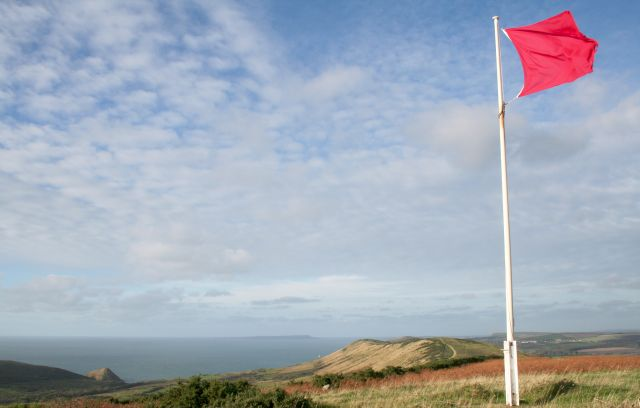 Red Flag on Povington Hill