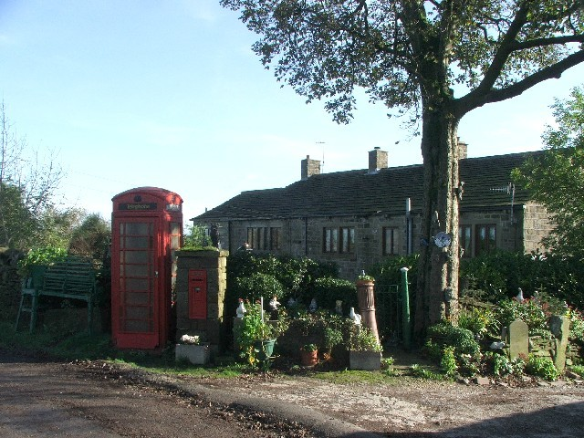 Old Telephone Box and Victorian Letterbox on Broad Head Lane.