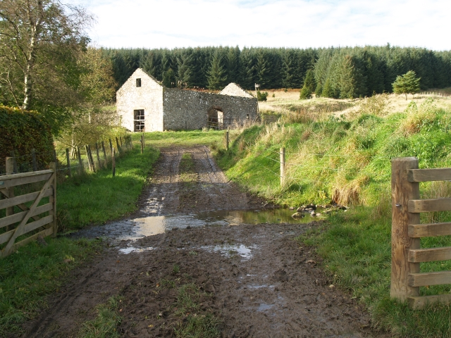 Ford and ruined barn, Upper Stewarton