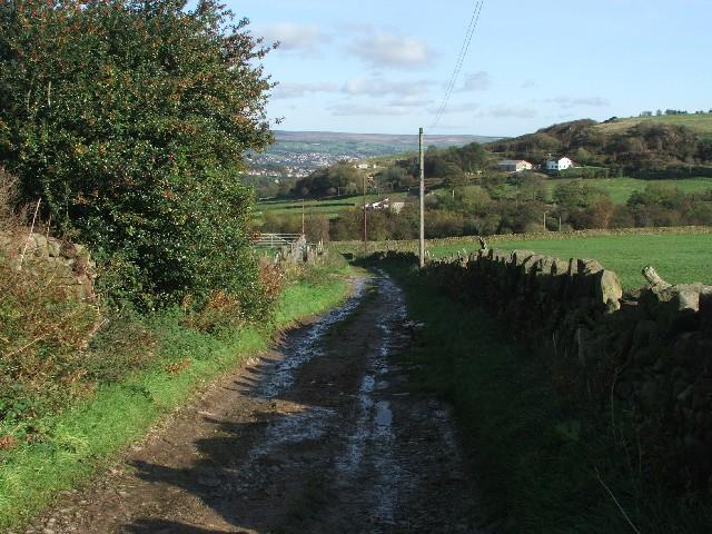 Track Near Lower Laithe.