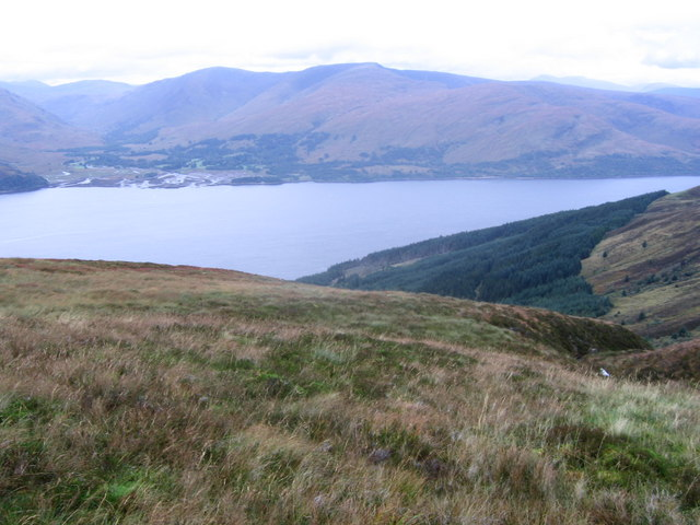 View from high on Beinn na Gucaig