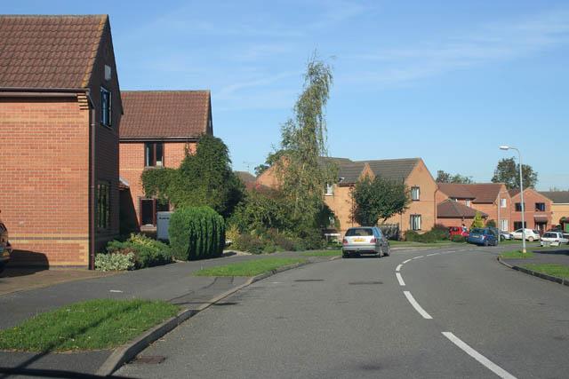 1990's housing, Longcliffe Road, Grantham