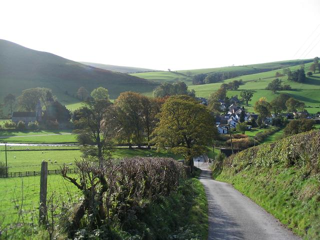 View towards Llanarmon Dyffryn Ceiriog