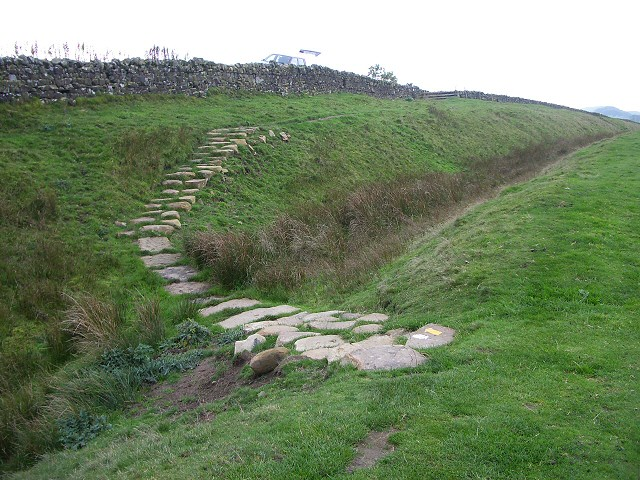Path crossing north ditch