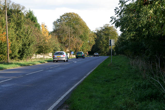 A153, Sleaford Road at West Willoughby