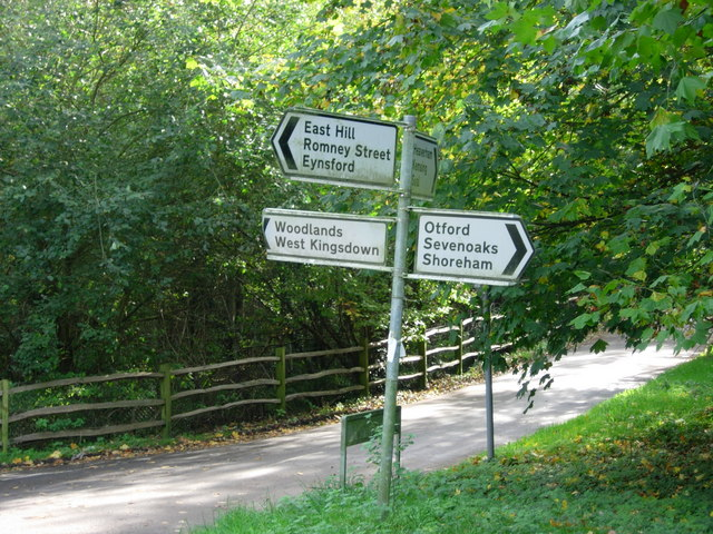 Signposts  above the North Downs Way near Kemsing